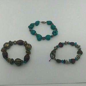 Turquoise Bracelet Bundle 3-pc
